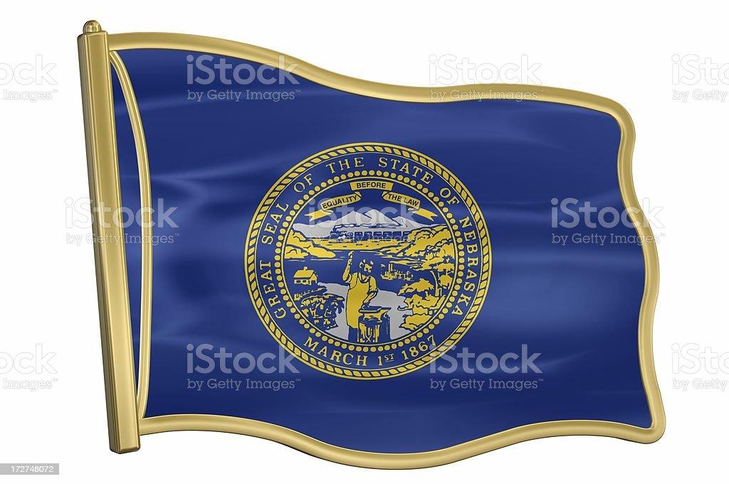 US State Flag Pin - Nebraska royalty-free stock photo