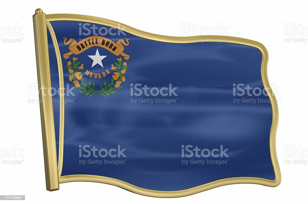 US State Flag Pin - Nevada royalty-free stock photo