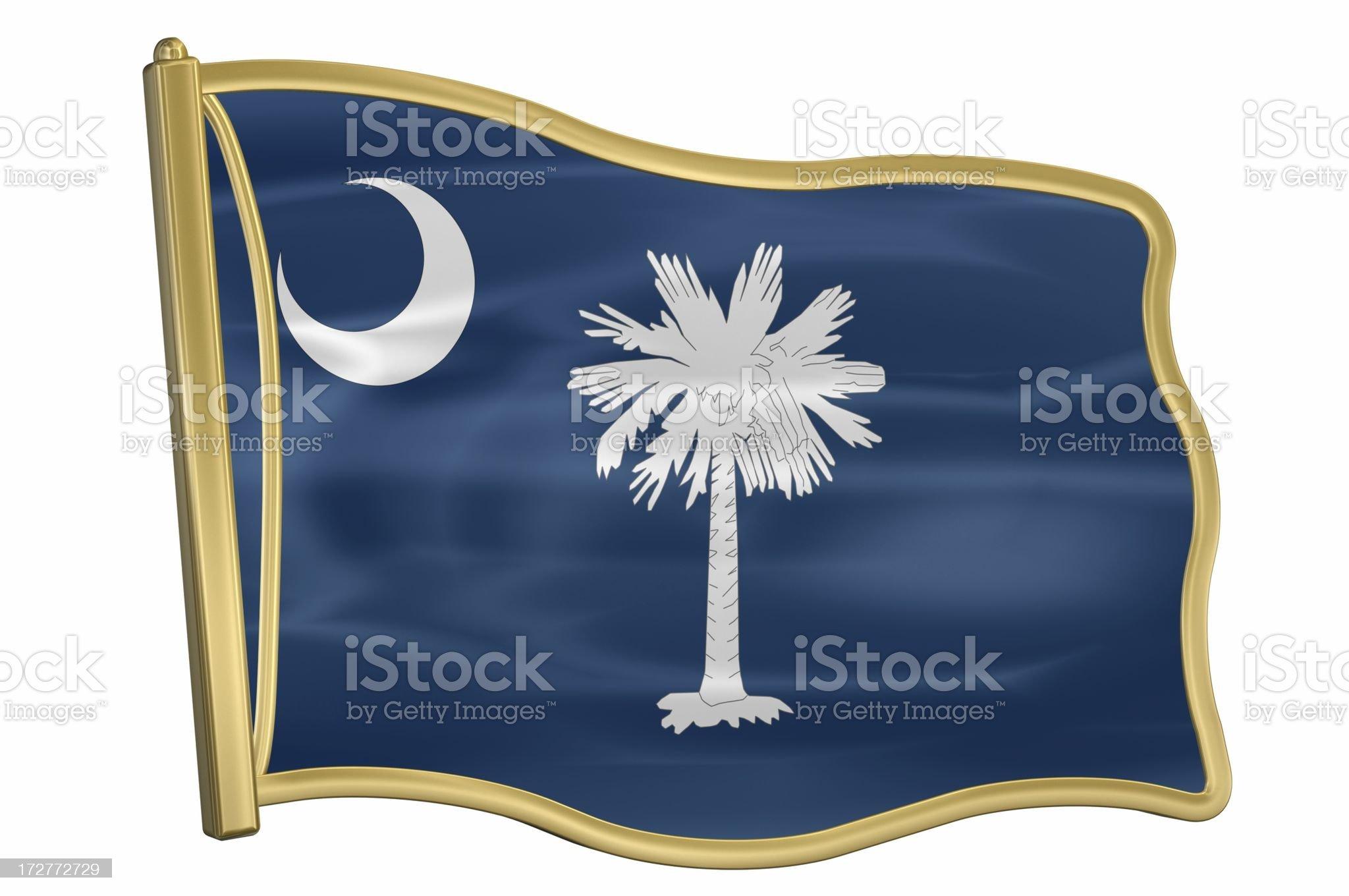US State Flag Pin - South Carolina royalty-free stock photo