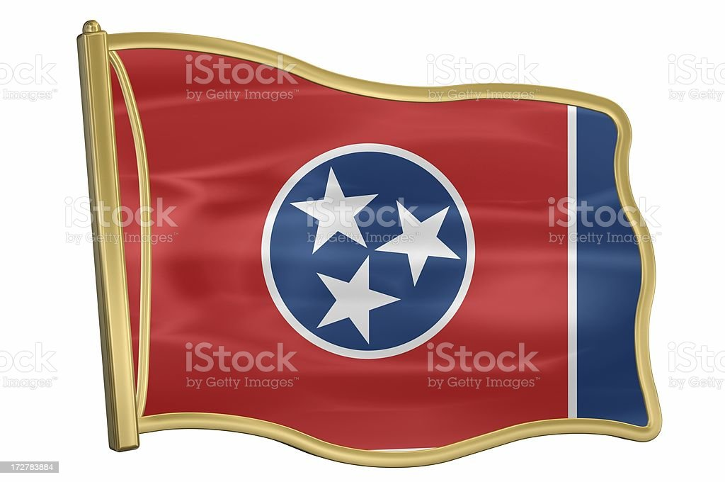 US State Flag Pin - Tennessee royalty-free stock photo
