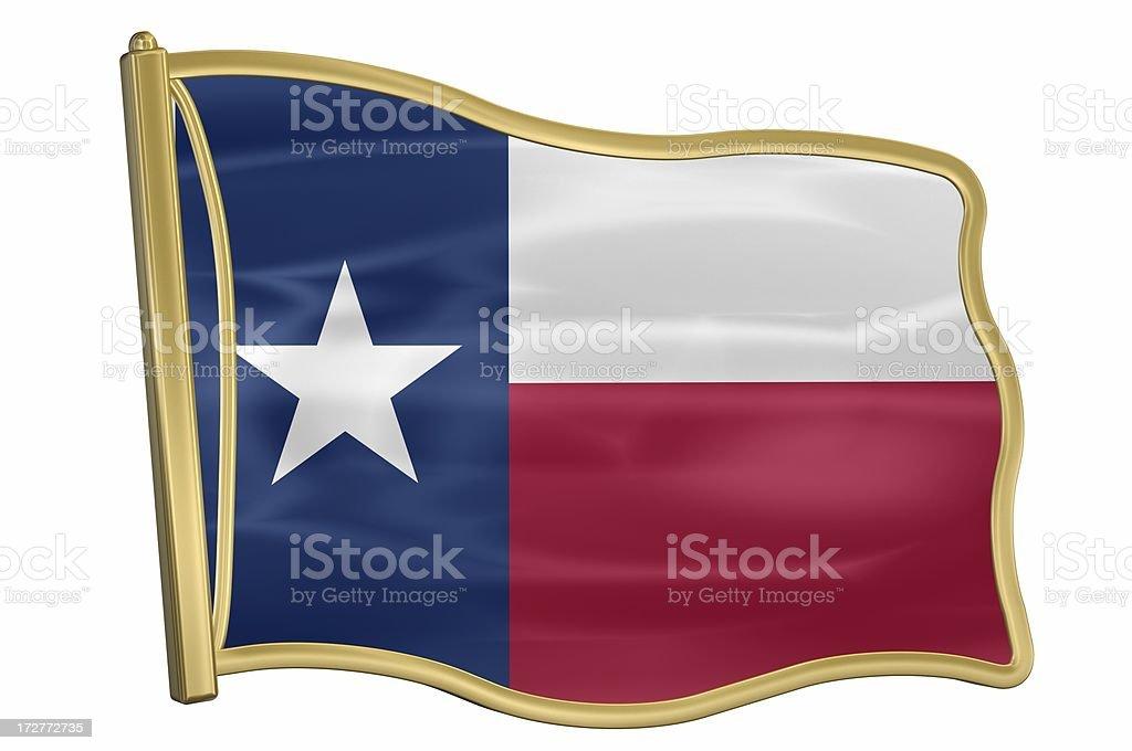 US State Flag Pin - Texas royalty-free stock photo