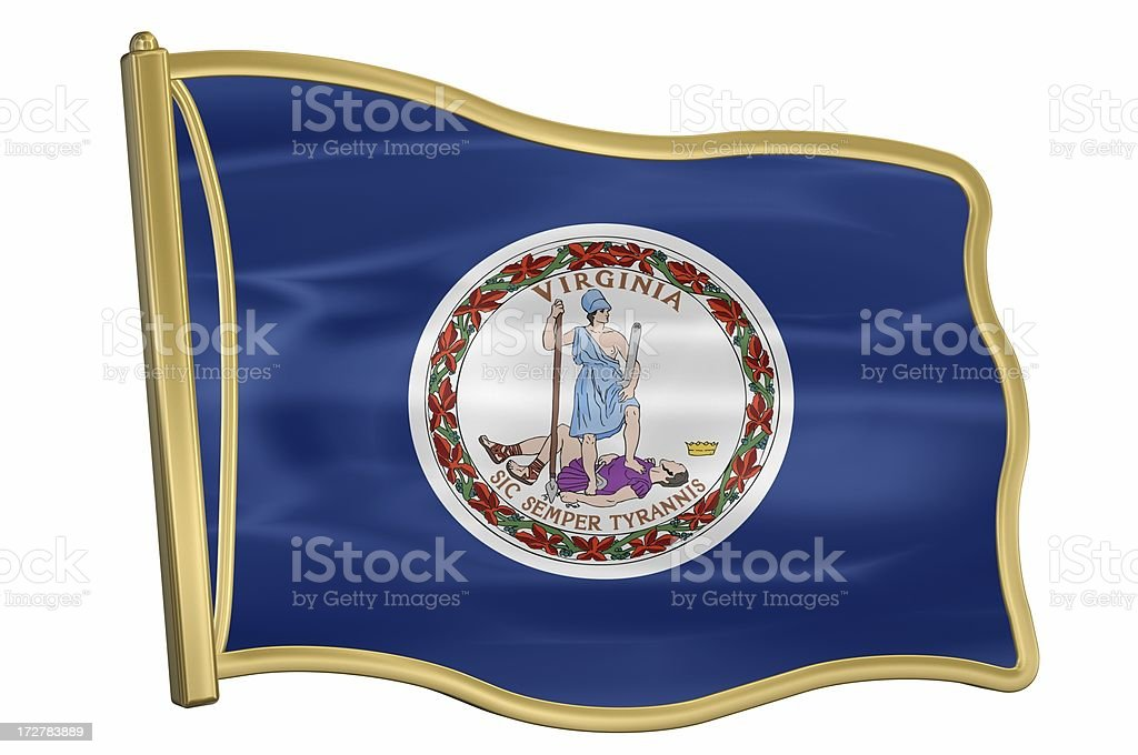 US State Flag Pin - Virginia royalty-free stock photo