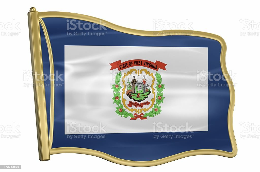 US State Flag Pin - West Virginia royalty-free stock photo