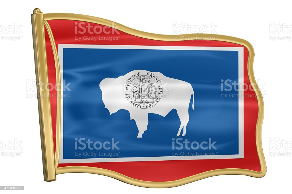 US State Flag Pin - Wyoming royalty-free stock photo