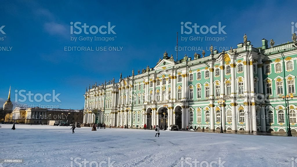 State Hermitage museum in Saint Petersburg, Russia stock photo