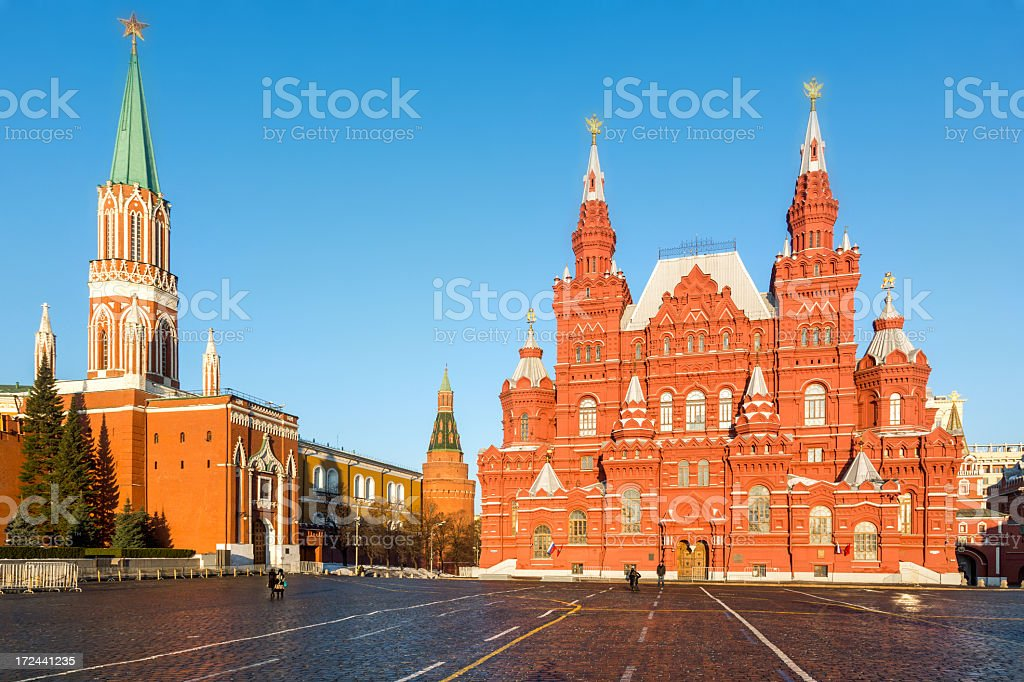 State Historical Museum on Red Square, Moscow royalty-free stock photo