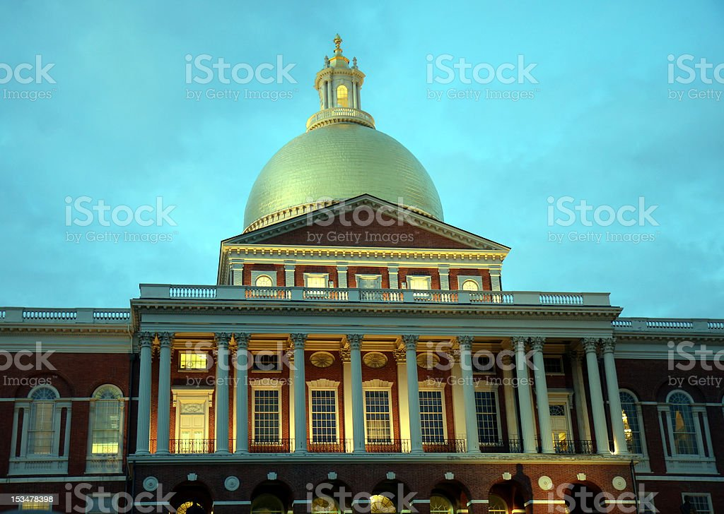 State House Boston MA stock photo