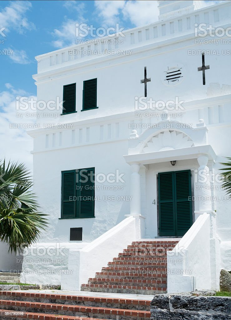State House in St. George's, Bermuda stock photo