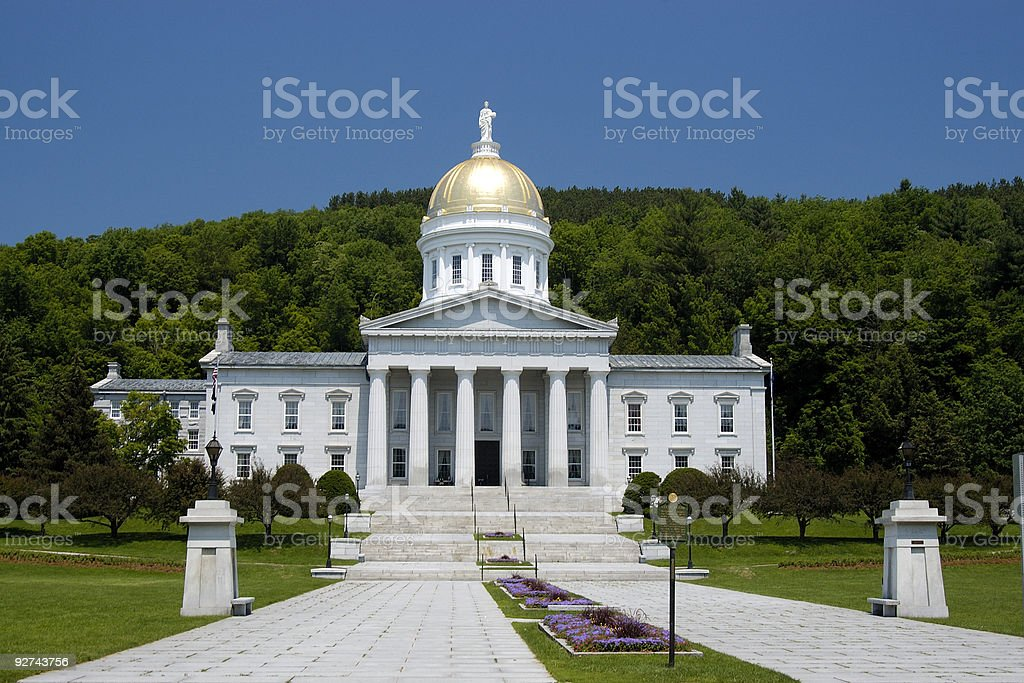 State House. Vermont. royalty-free stock photo