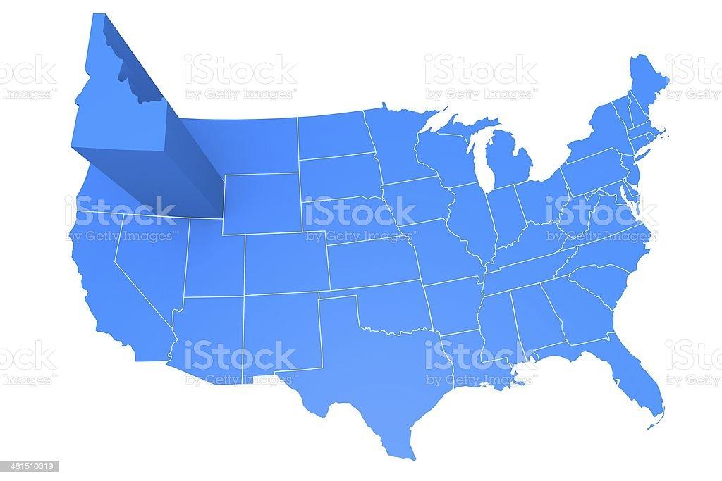 USA state Idaho stock photo