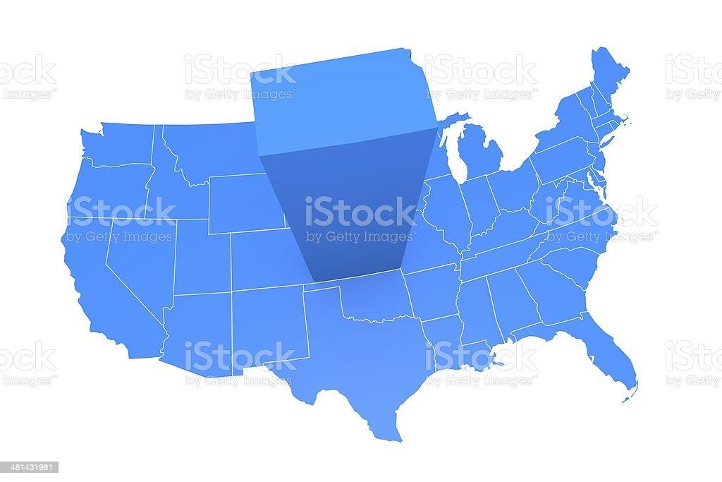 USA state Kansas royalty-free stock photo