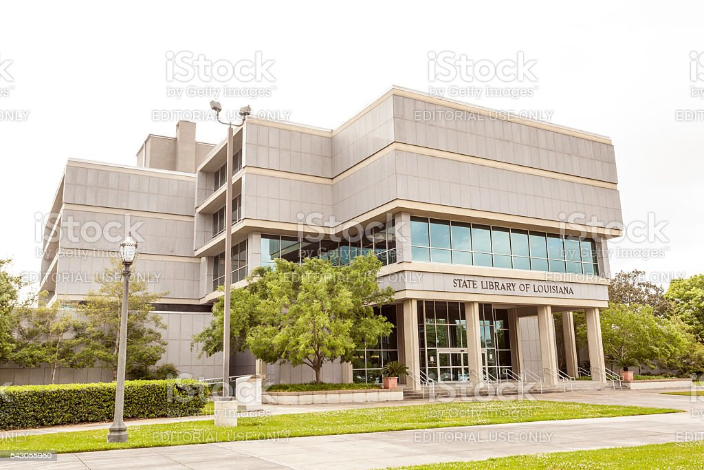 State Library of Louisiana in Baton Rouge stock photo
