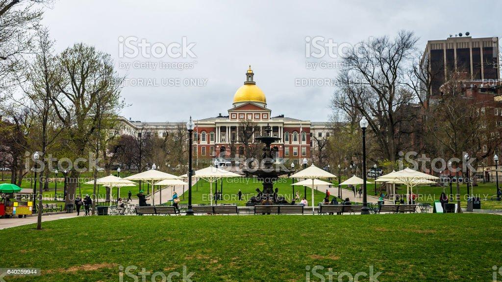 State Library of Massachusetts at Boston Common park stock photo