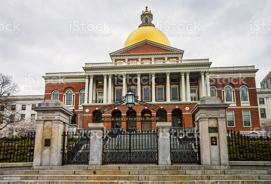 State Library of Massachusetts in downtown Boston US stock photo