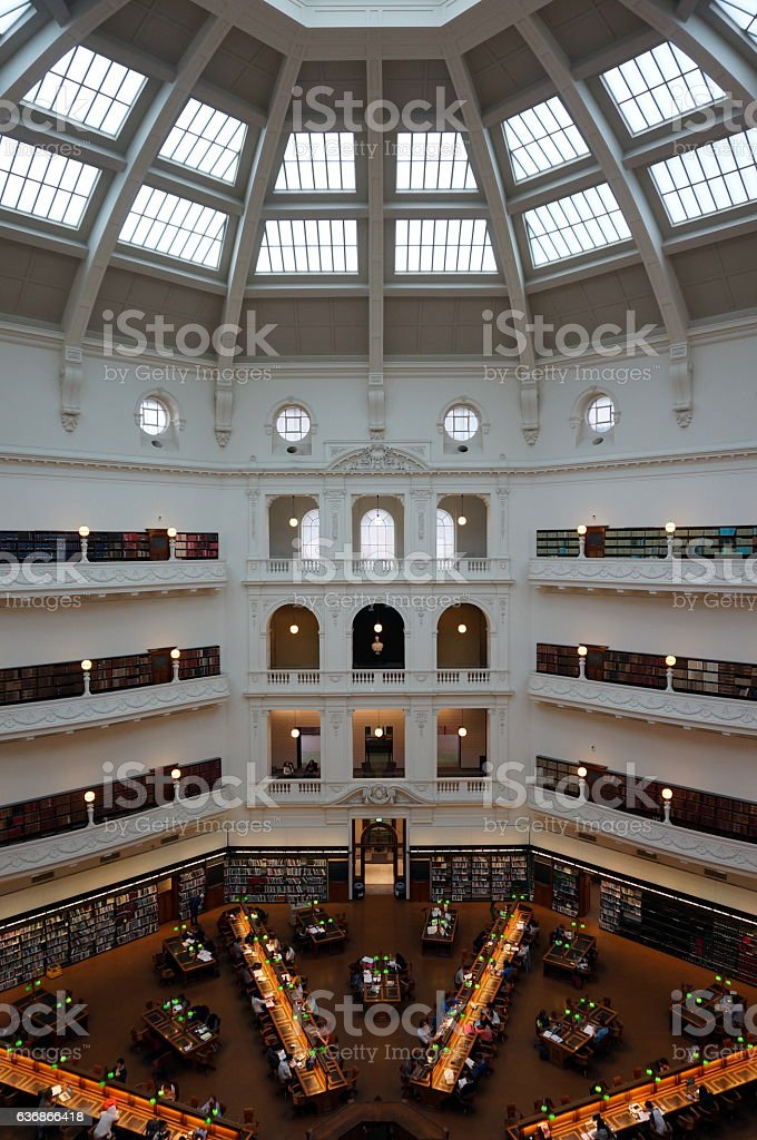 State Library of Victoria in Melbourne stock photo
