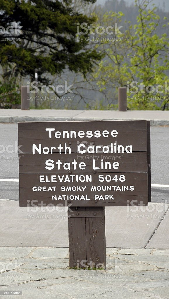 State Line Tennessee royalty-free stock photo