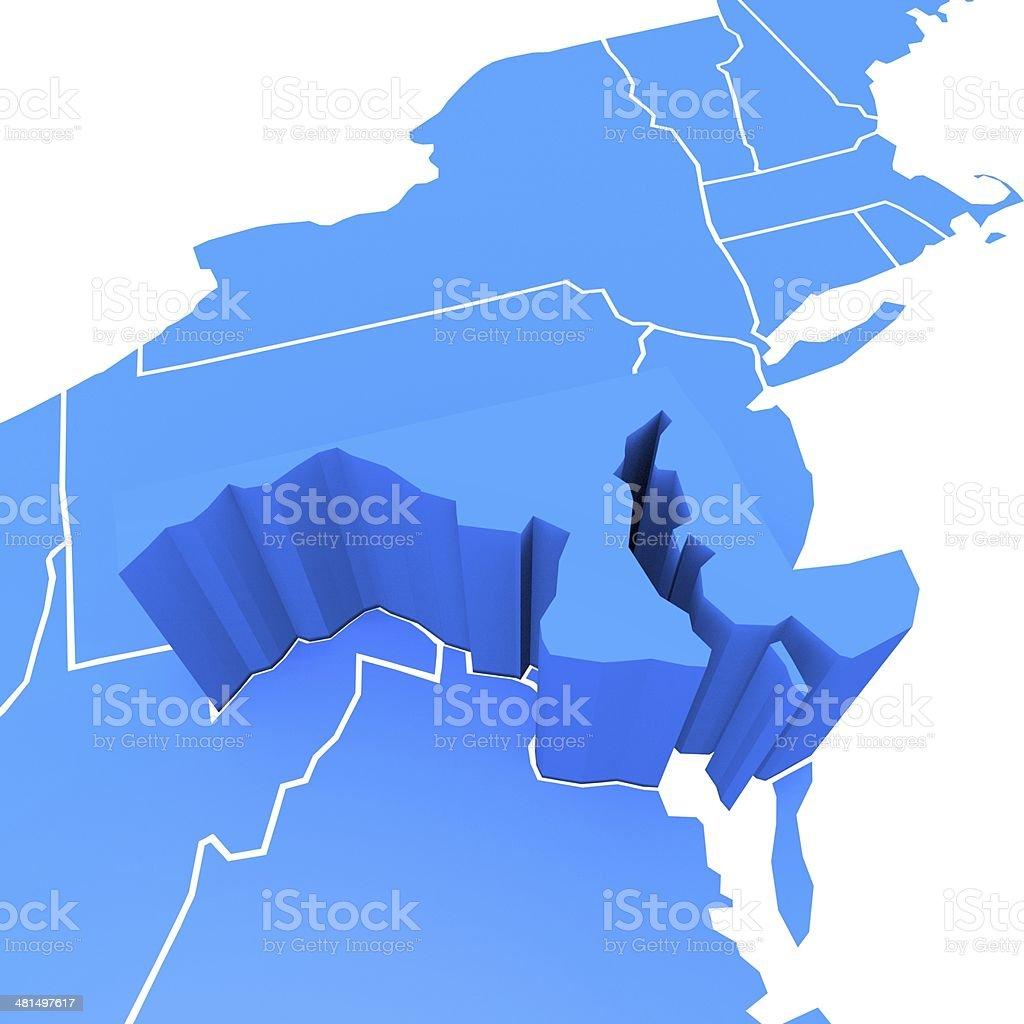 USA state Maryland stock photo