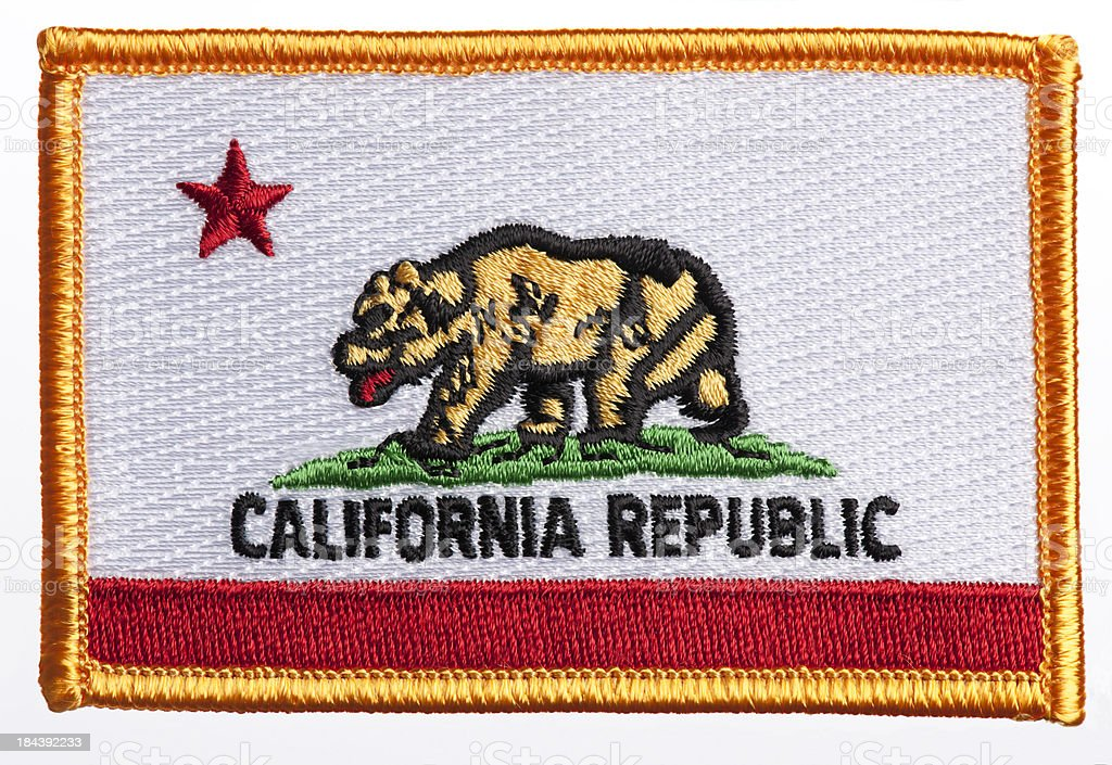 State of California flag patch stock photo