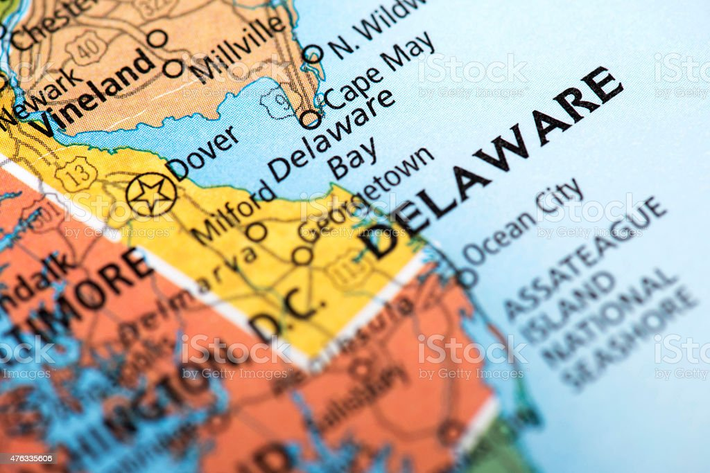 State of Delaware State stock photo