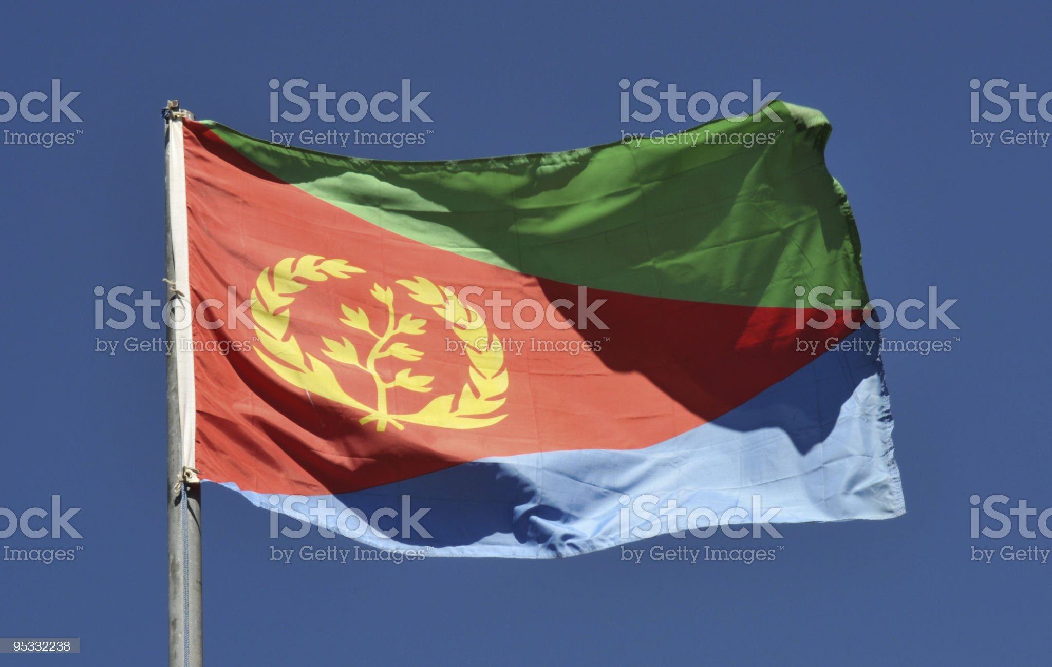State of Eritrea National Flag royalty-free stock photo