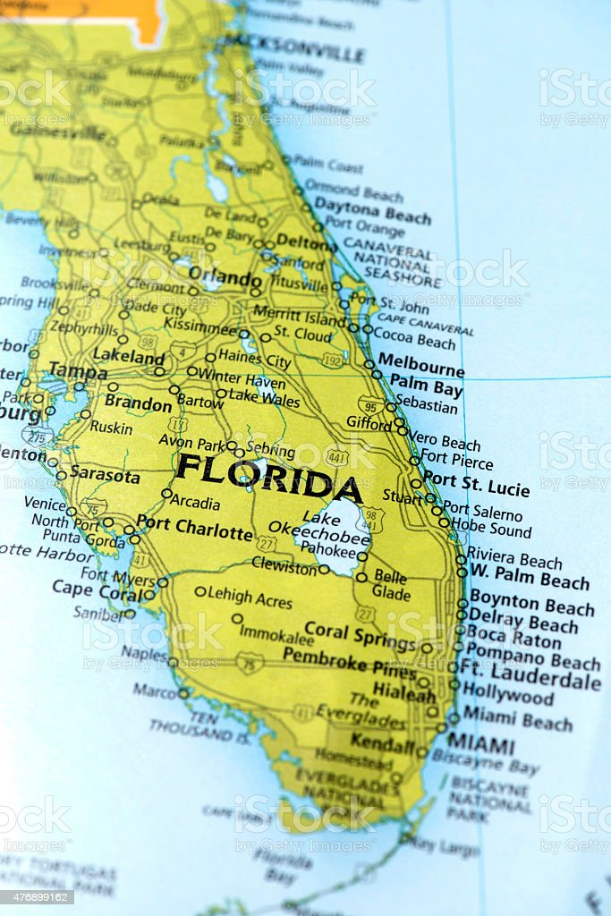 State of Florida State, USA stock photo