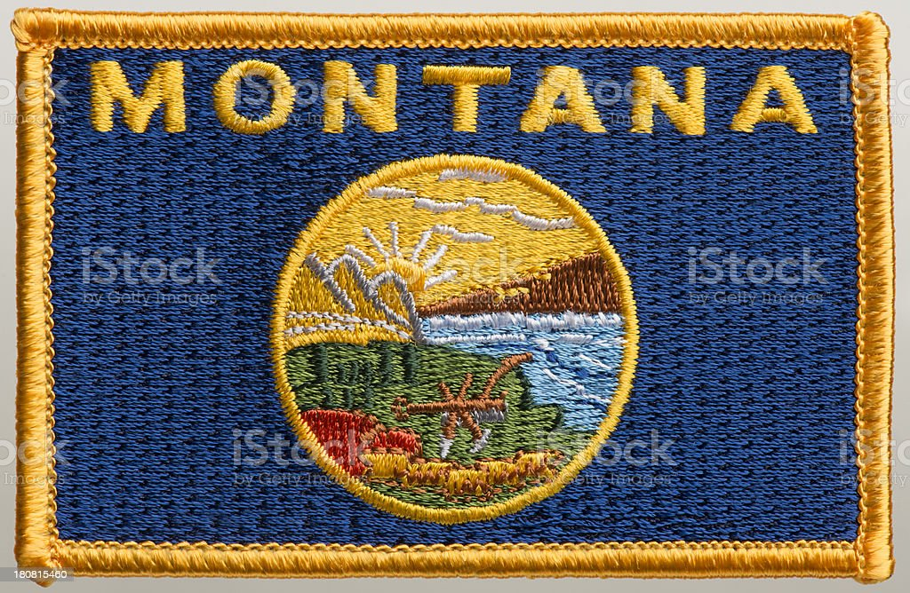 State of Idaho flag patch stock photo