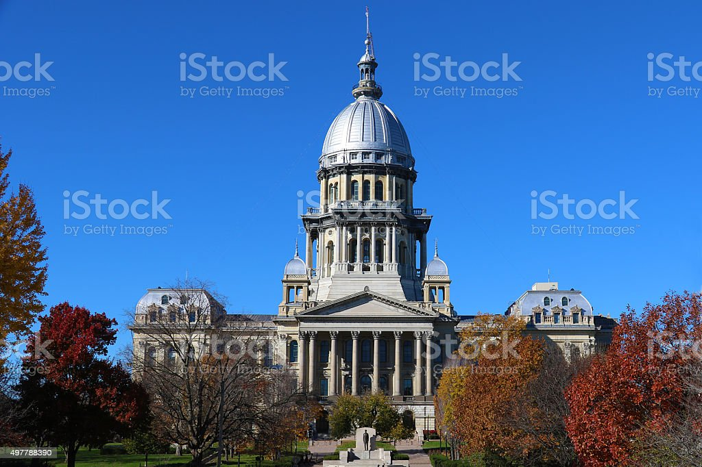State of Illinois Capital Building stock photo
