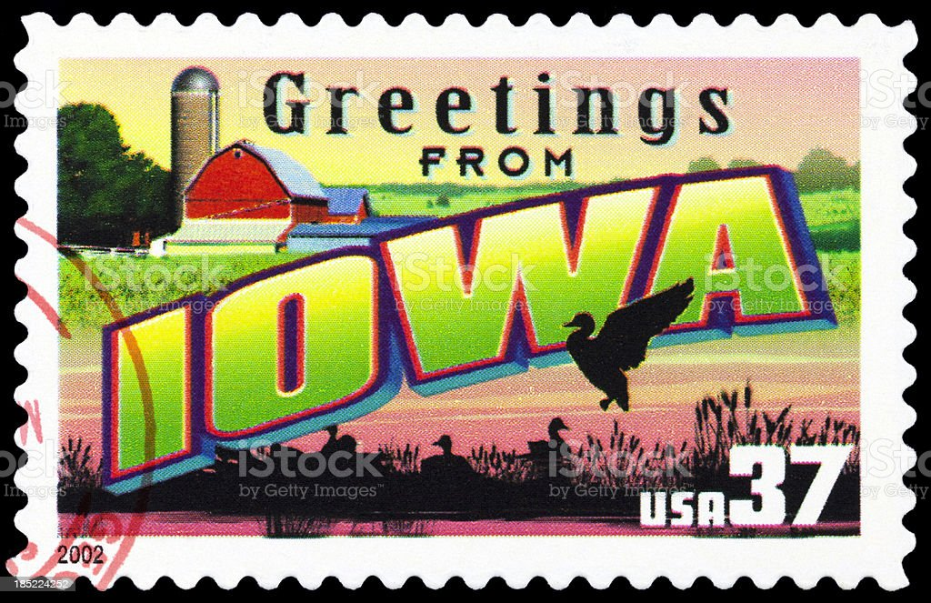 State of Iowa royalty-free stock photo