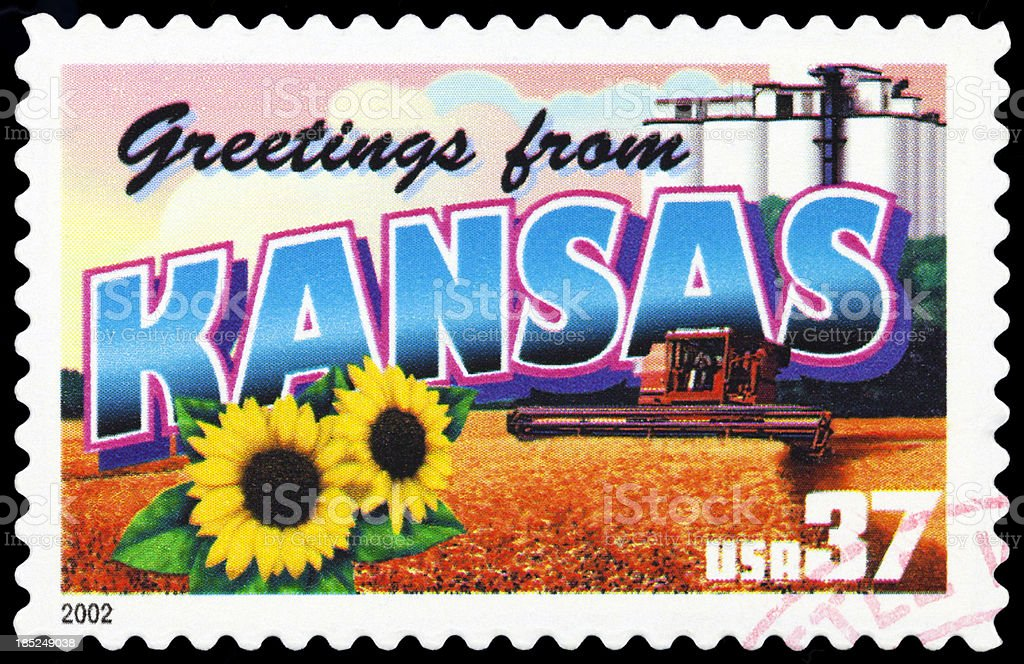 State of Kansas stock photo