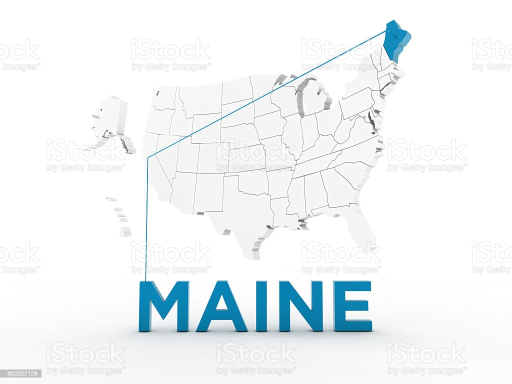 USA, State of Maine stock photo