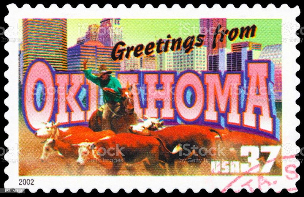 State of Oklahoma royalty-free stock photo