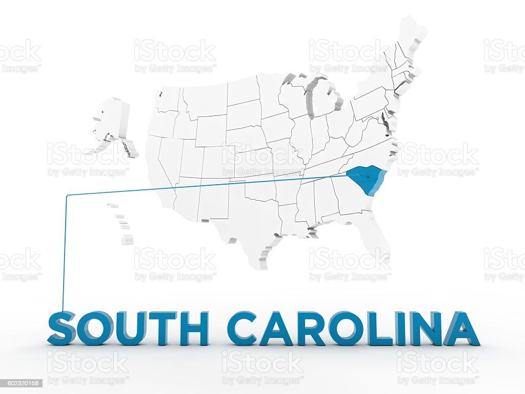 USA, State of South Carolina stock photo