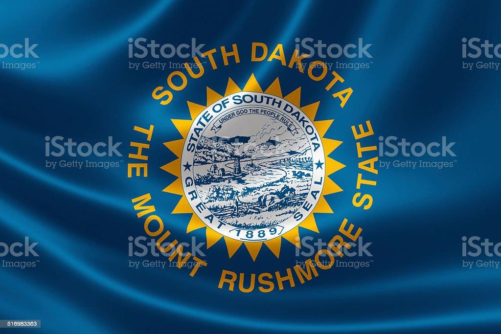 State of South Dakota Flag stock photo