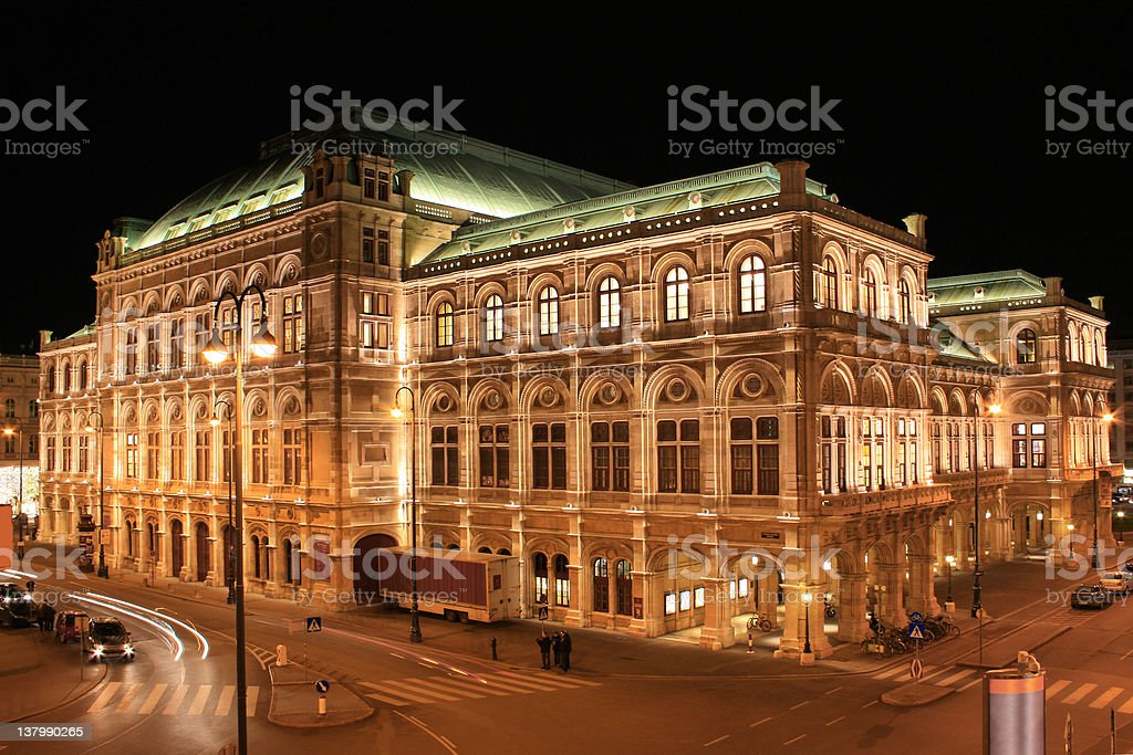 State Opera House 01, Vienna, Austria stock photo