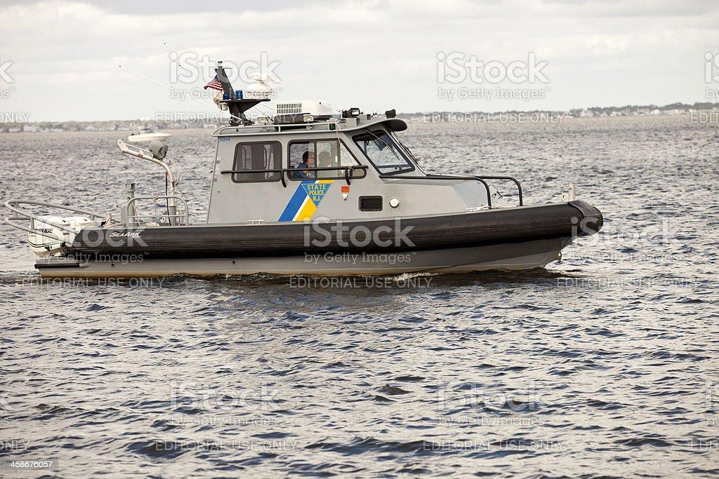 NJ State Police Boat royalty-free stock photo