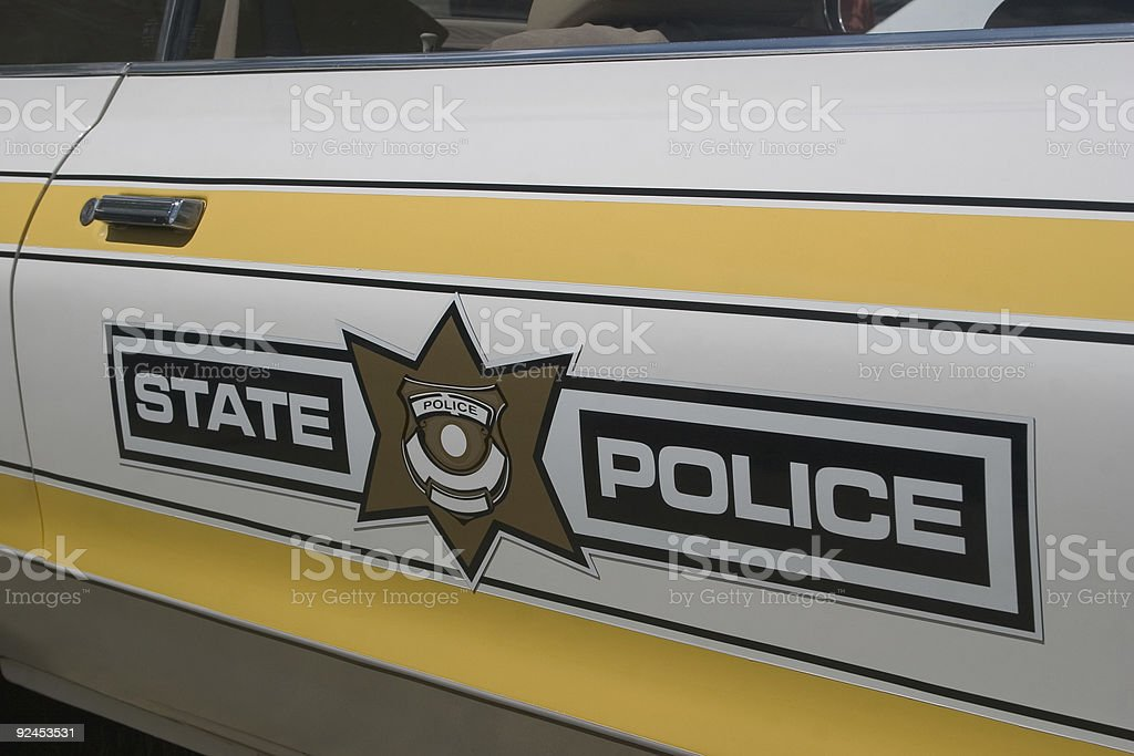 State police royalty-free stock photo