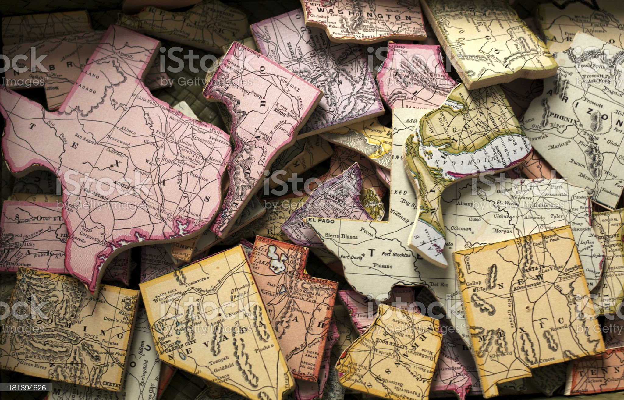 State Puzzle royalty-free stock photo