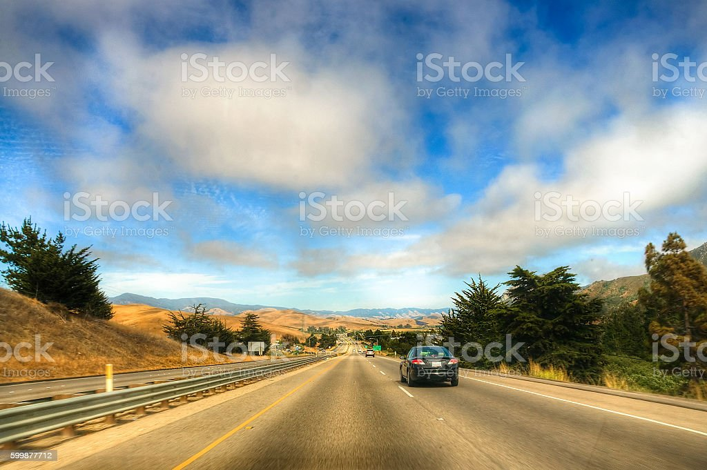 State route one - California shots stock photo