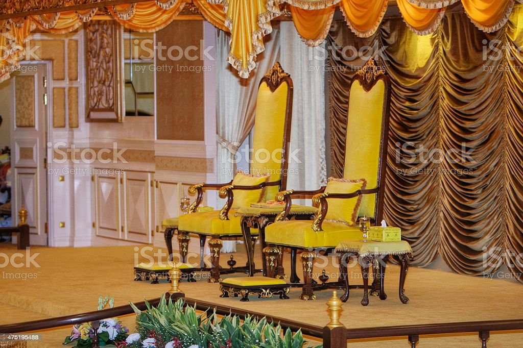 State ruler seat stock photo