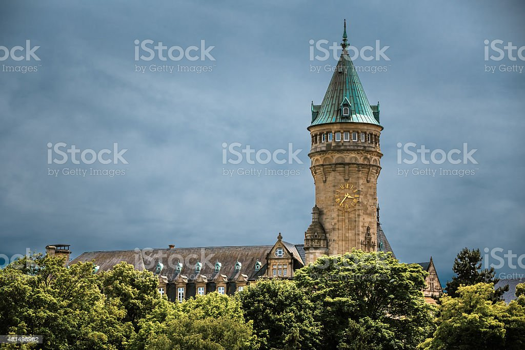 State Savings Bank Headquarters(Spuerkees), Luxembourg stock photo