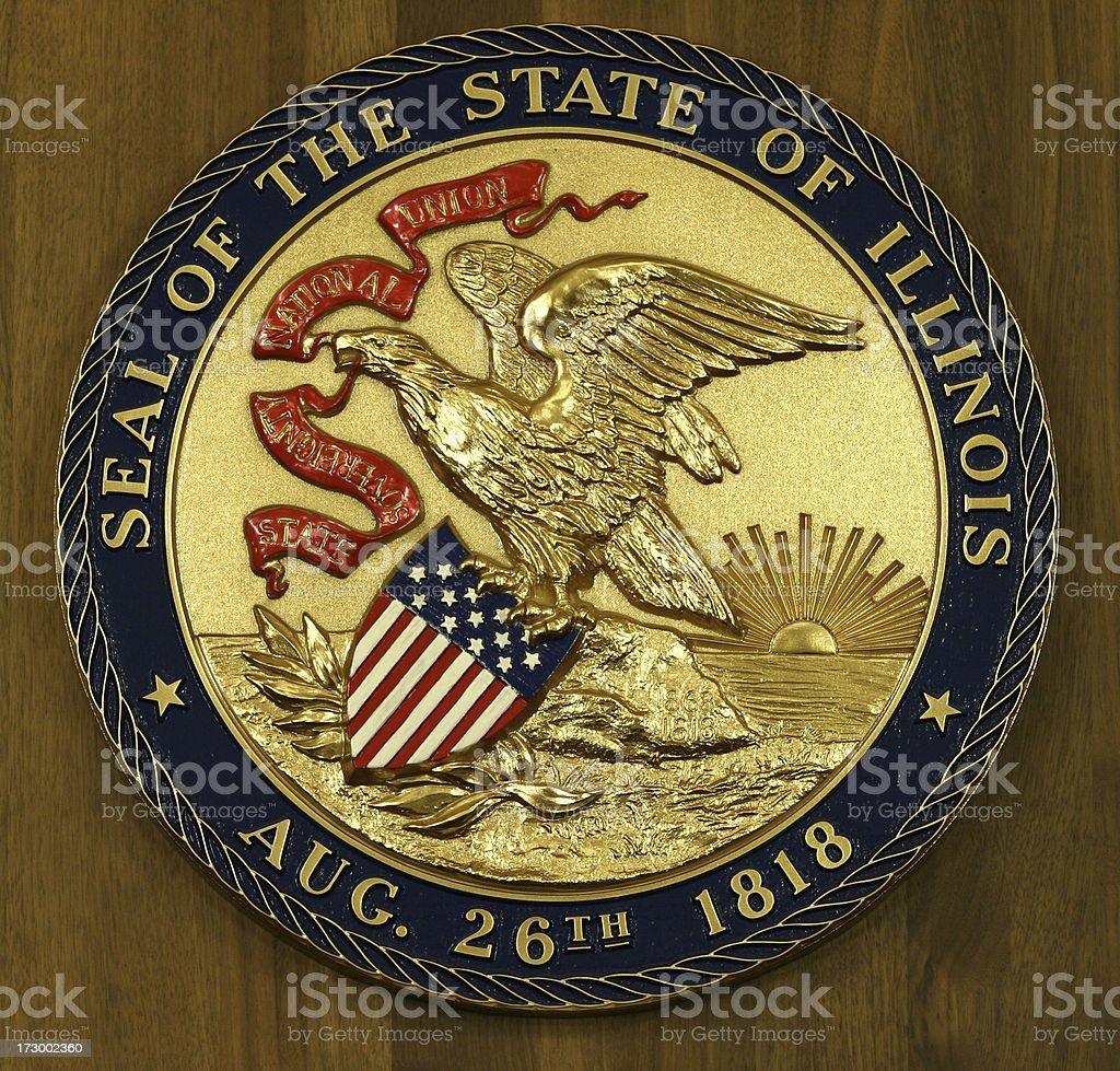 State Seal of Illinois stock photo
