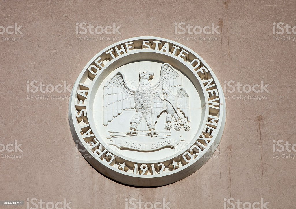 State Seal Of New Mexico stock photo