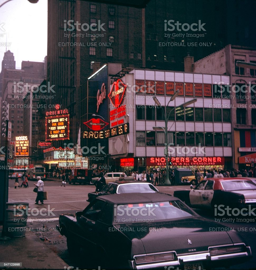N State St. Chicago II, 1977 stock photo
