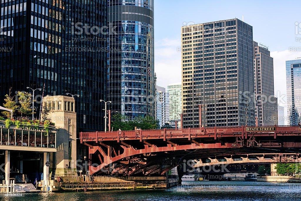 State Street Bridge,  Chicago stock photo