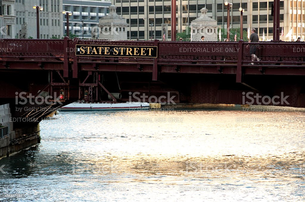 State Street Bridge royalty-free stock photo