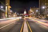 State Street Capitol Building Salt Lake City at Night