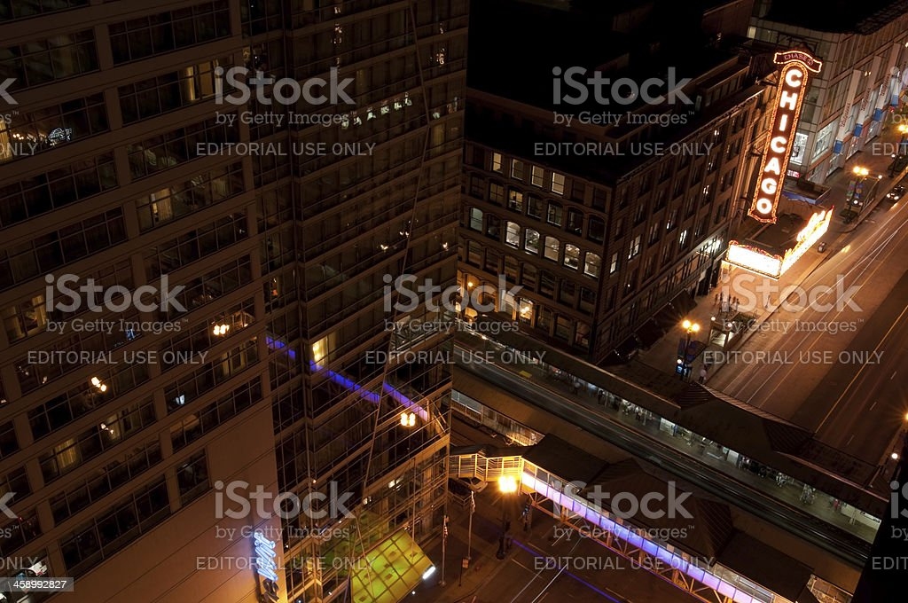 State Street in Chicago stock photo
