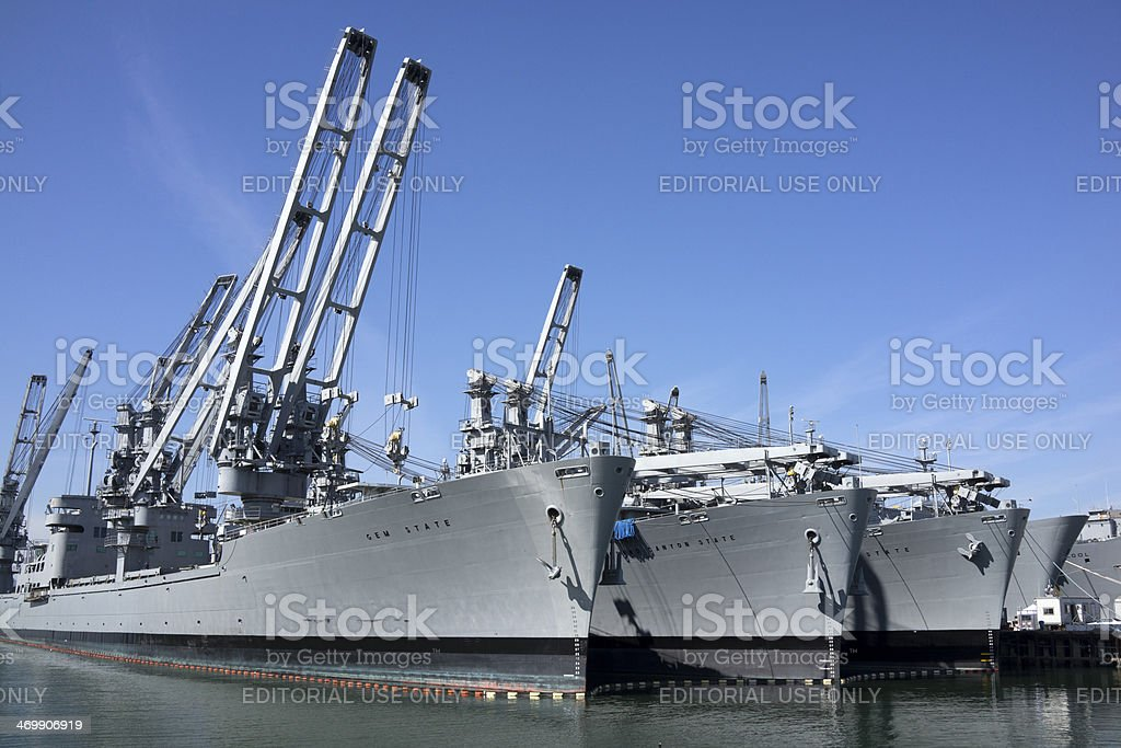 State Tenders at Harbor stock photo