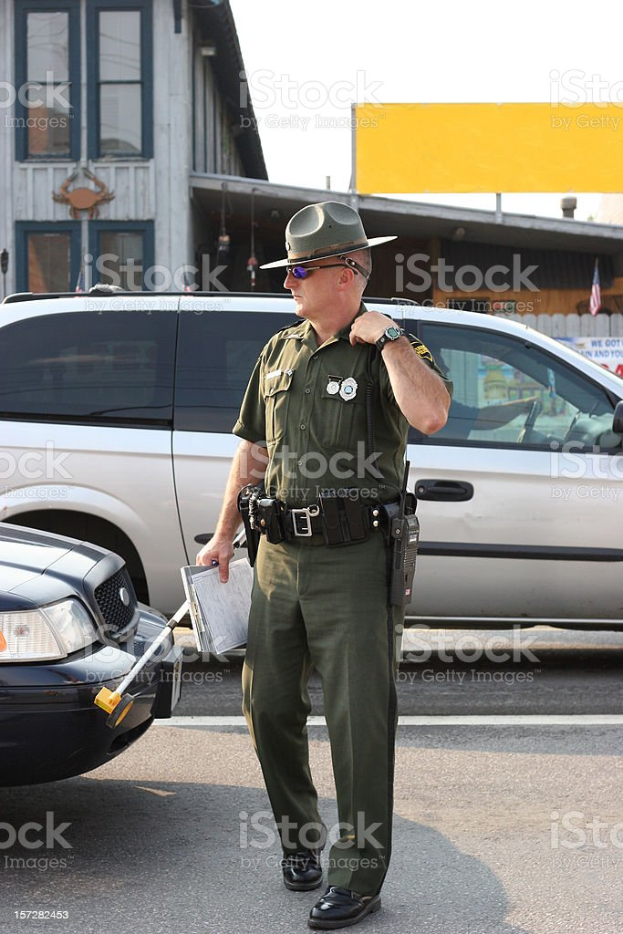 State Trooper Full Body royalty-free stock photo