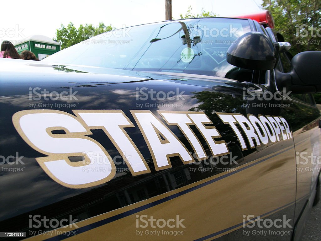 State Trooper royalty-free stock photo